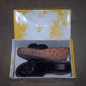Pair of Yellow Box rhinestone buckled shoes - 9M